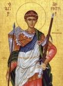 Sfântul Mare Mucenic Dimitrie (26 octombrie)